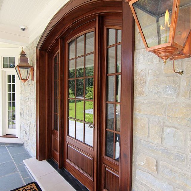 Mahogany Entry Door And Sidelites By Signature Doors Grants A Warm