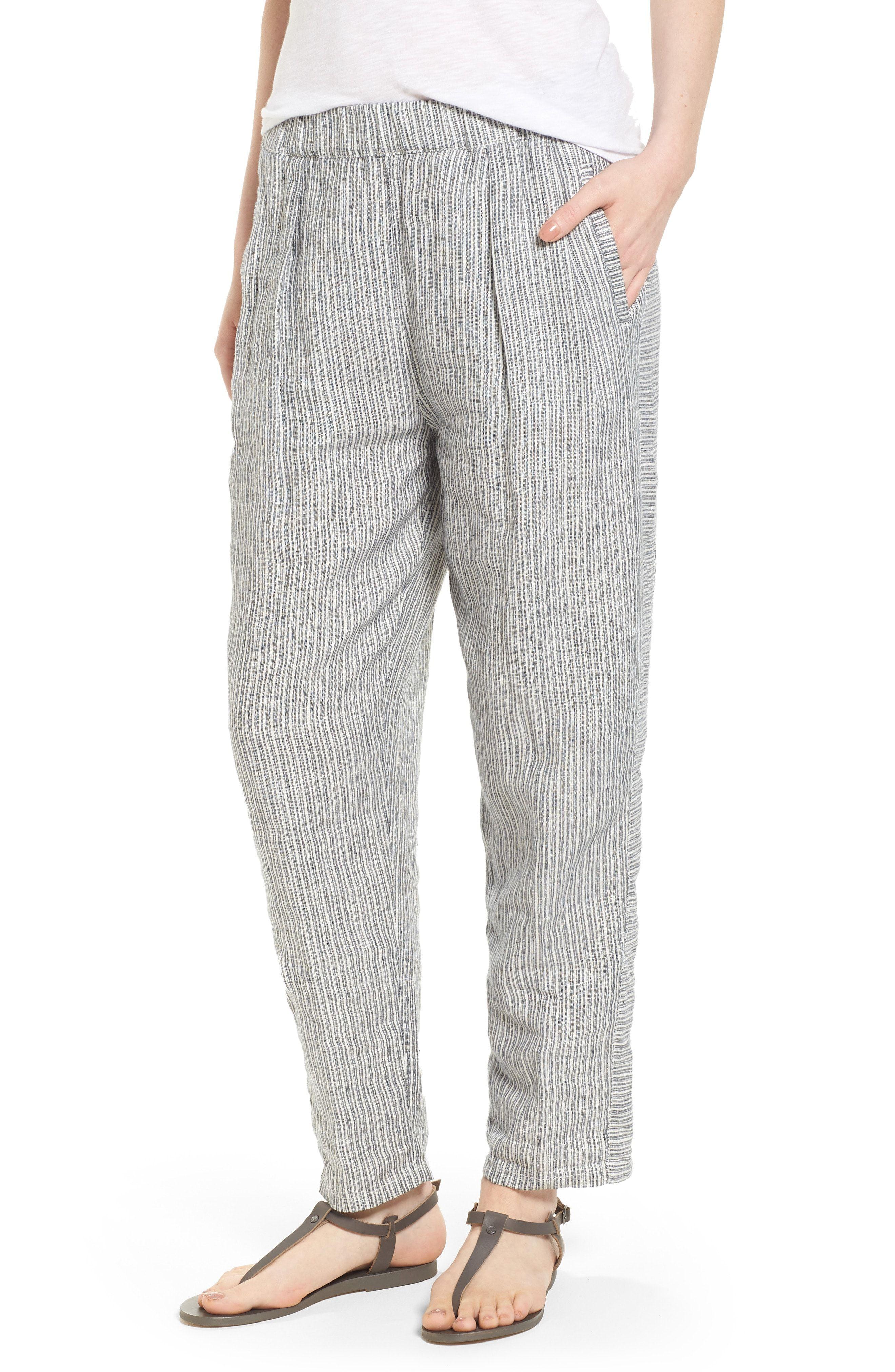 57dcf33b51 Caslon® Linen Crop Pants (Regular   Petite)