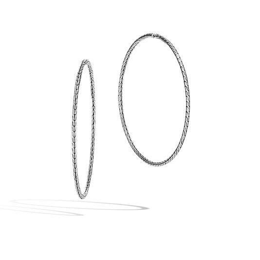 3405d5b08 Classic Chain Silver Extra-Large Hoop Earrings - EB90375 - John ...