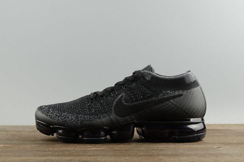 factory price 51a9d 3ec71 Mens Nike VaporMax Triple Black 2018 Spring Summer Running Shoes Black  Anthracite-Dark Grey 849558-007 Hot Sale