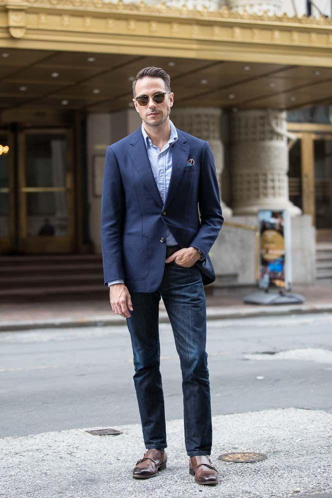 How To Wear a Navy Suit Jacket As A Blazer - He Spoke Style 51226dbf24eb