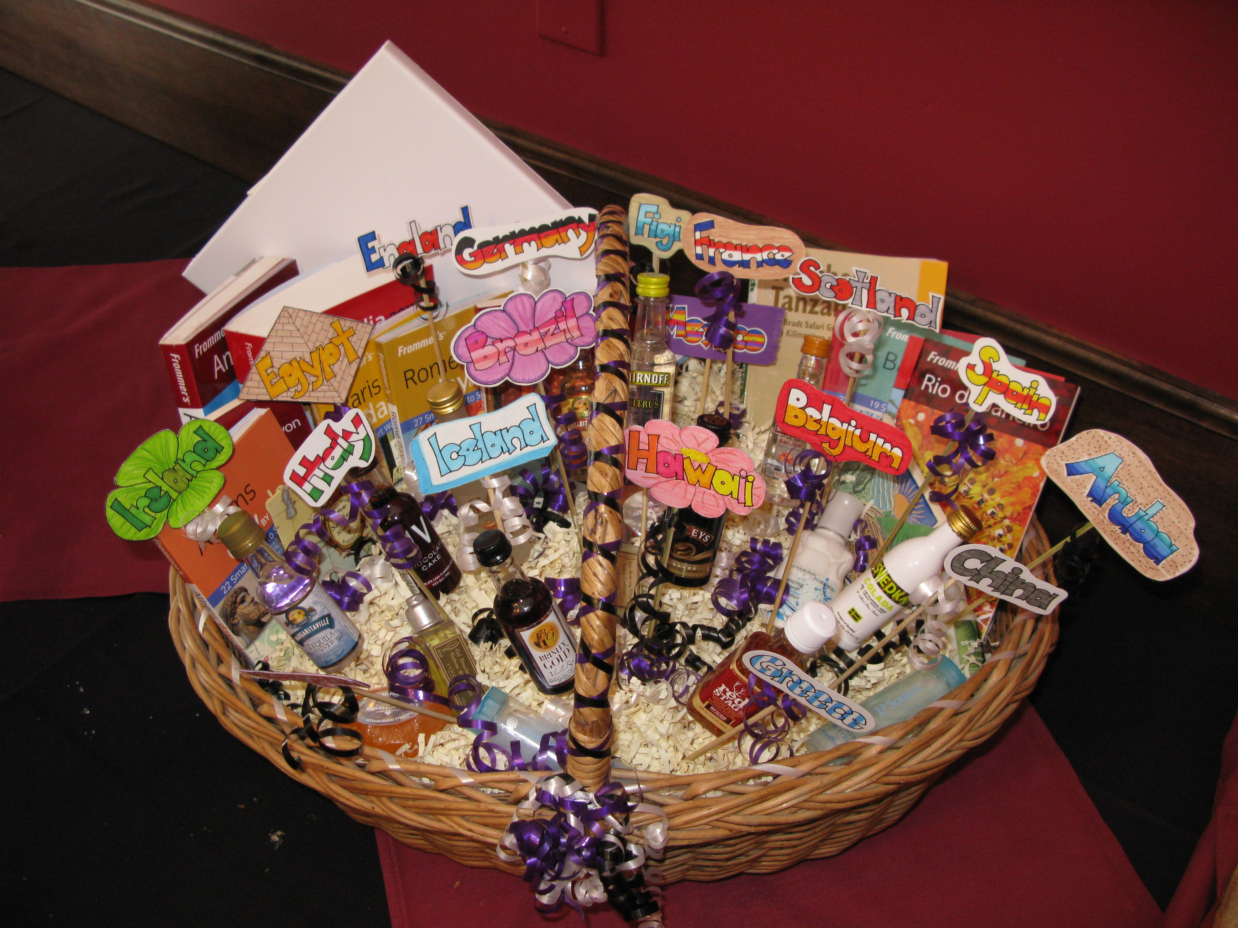 Wedding shower gift for my niece. Travel basket with