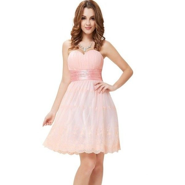 Strapless Sweetheart Neckline Lacey Homecoming Party Dress ...