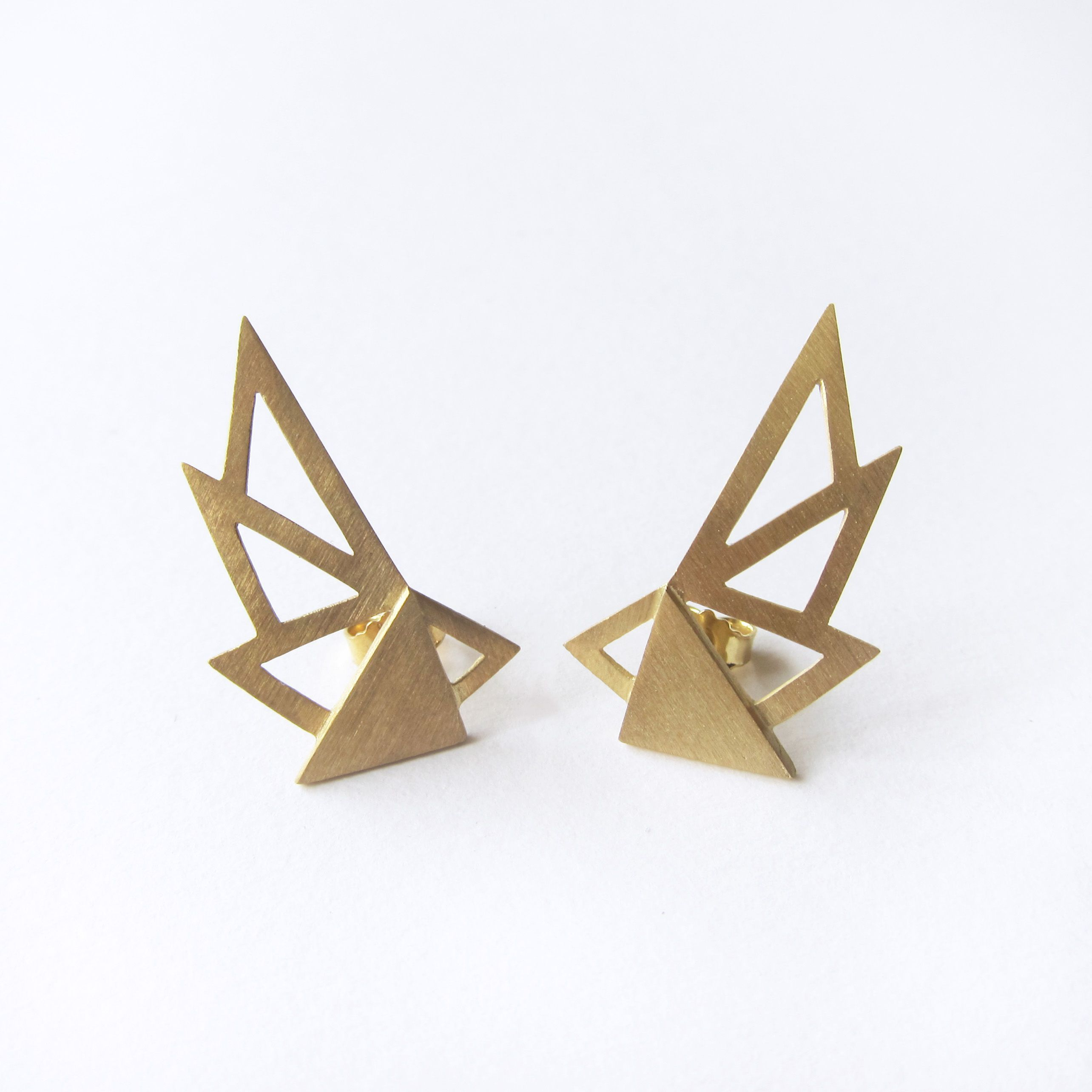 architecture isis earring in earrings brushed img sam products gold isa dupont