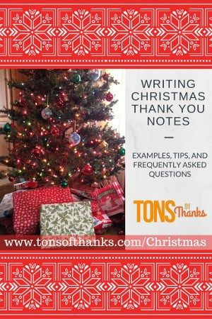 Writing Christmas thank you notes with examples, tips, and FAQ ...
