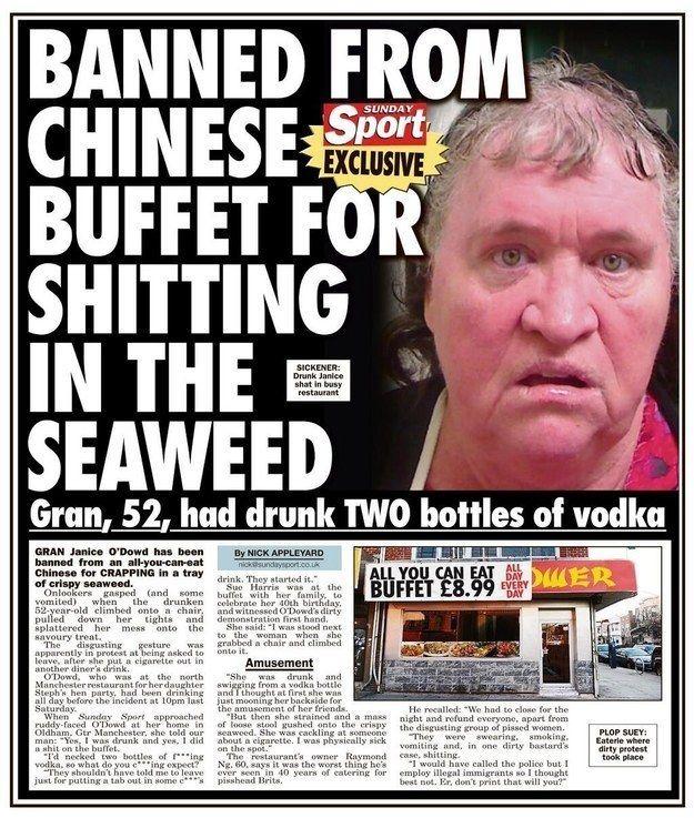 Image result for strange tabloid headlines