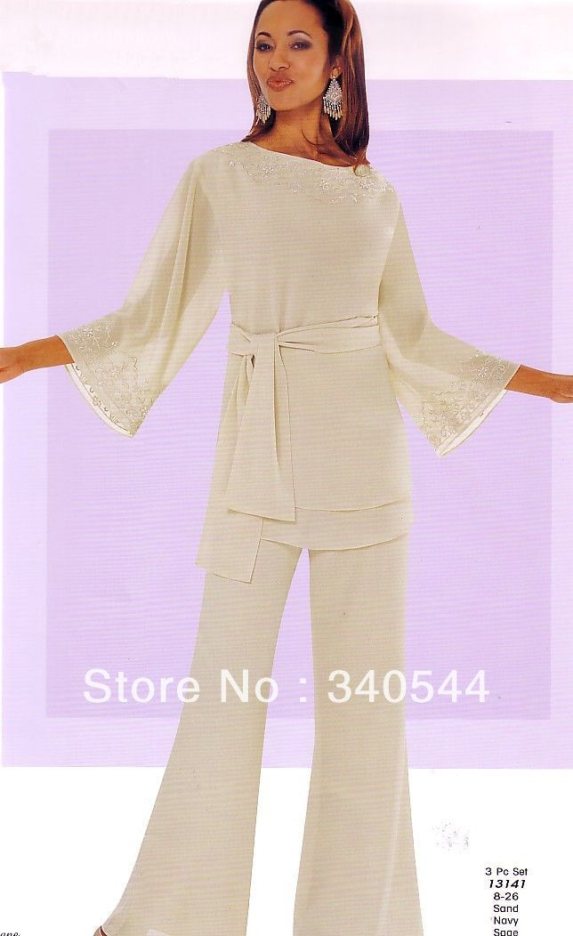 Mother of the Bride Pant Suits White 2013 New Fashion crystal ...