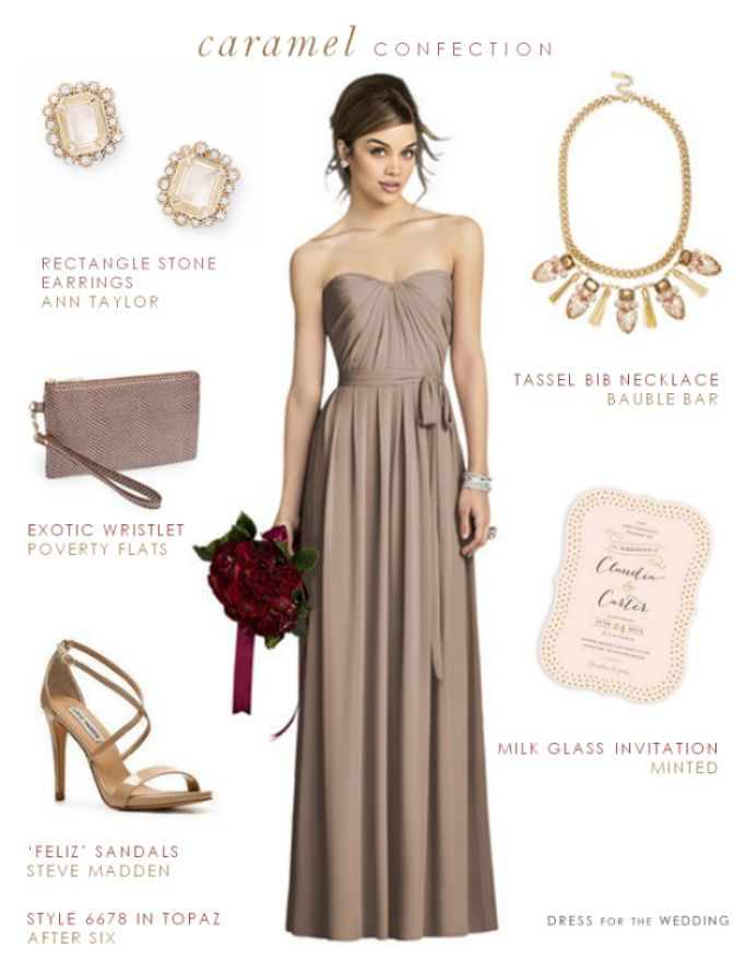 Taupe Bridesmaid Dress | Pinterest | Taupe bridesmaid, Taupe and ...