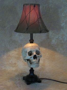 Skull Desk Lamp Halloween Prop