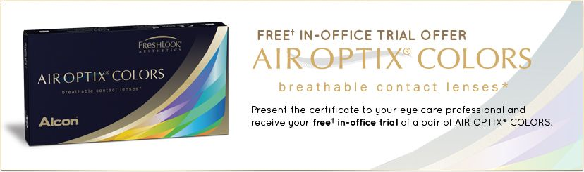 Want to try a new eye color? AIR OPTIX ® COLORS breathable ...