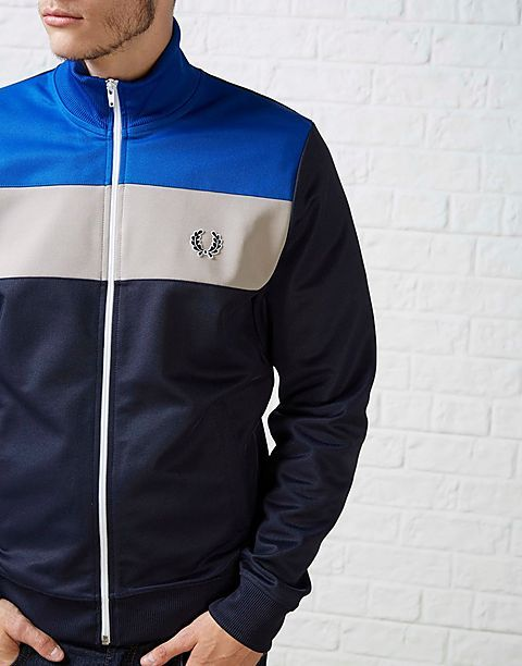 FRESH: Fred Perry ColourBlock Track Jacket #fredperry #retrosports