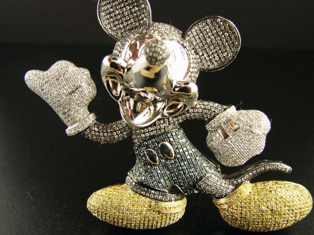 Details Zu 10k Cartoon Mickey Maus Diamant Anhanger Charme 8 85 Karat Mickey Mouse Jewelry Mickey Mouse Disney Jewelry
