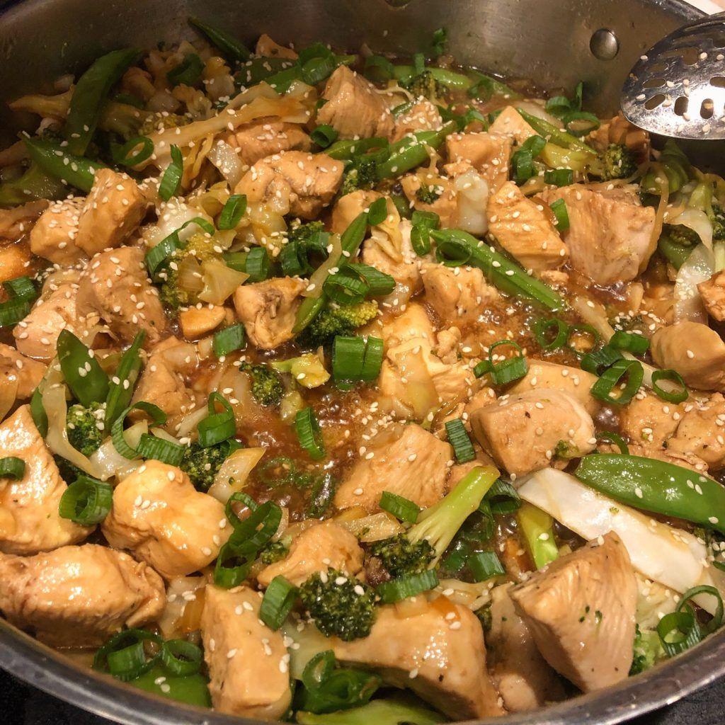 Keto easy chicken teriyaki stir fry lick your plate