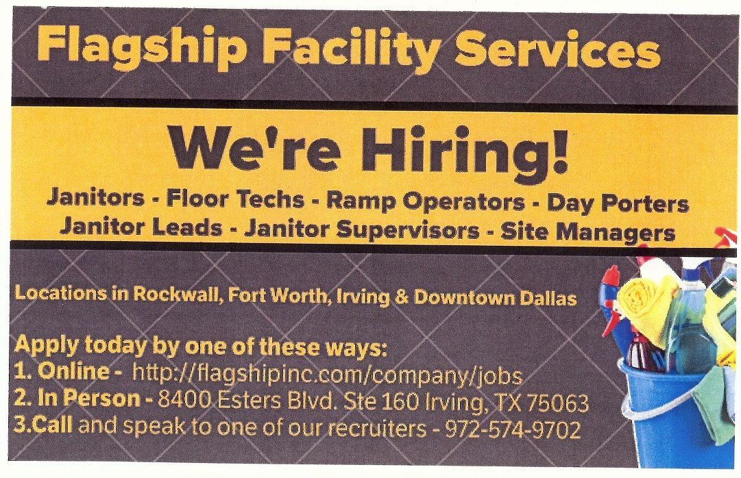 Flagship facility services is hiring in irving tx check