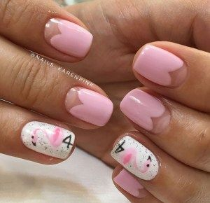 pretty pastel pink gel summer nails designs to diy this
