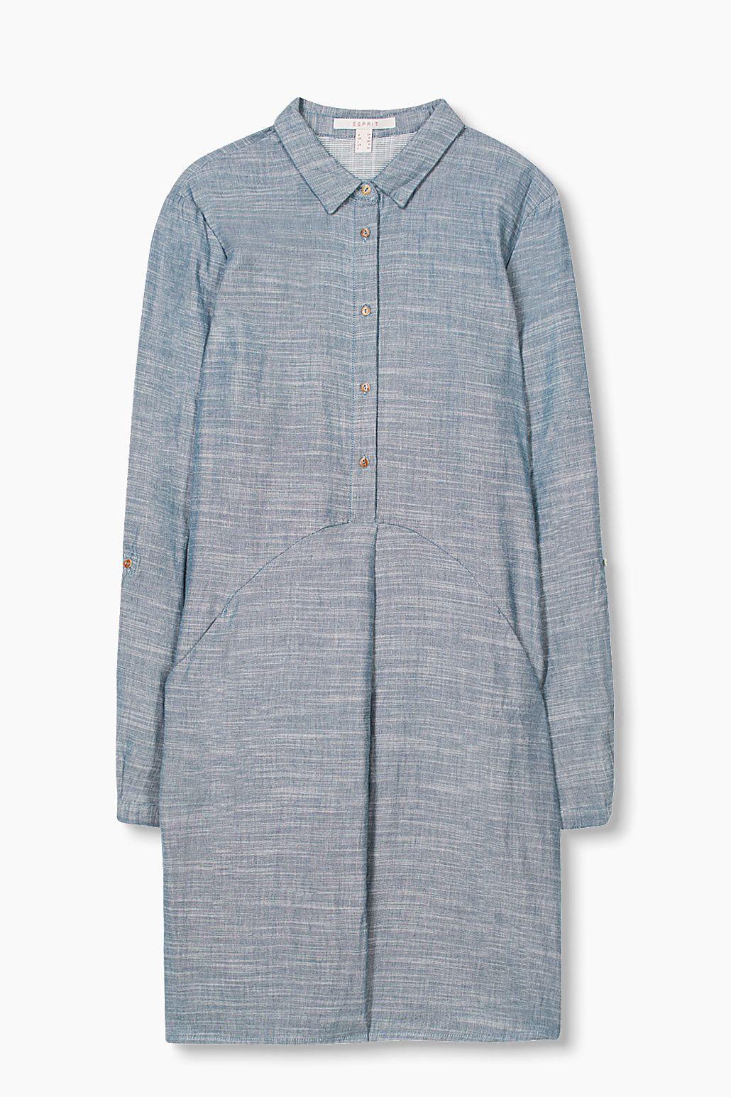 Style Pinterest Face 100 Casual Esprit Robe Coton Double qpcfY