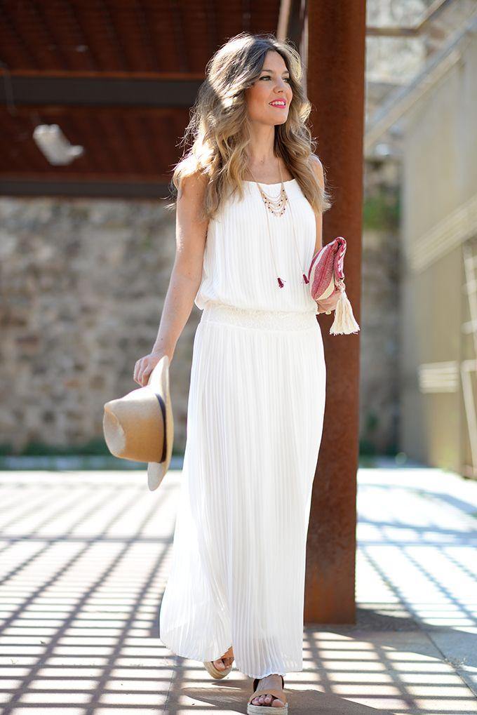 Vestidos ibicencos blancos
