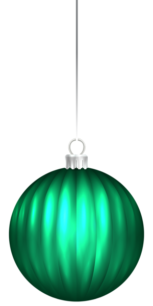 Green Christmas Ball Ornament PNG Clip Art Image