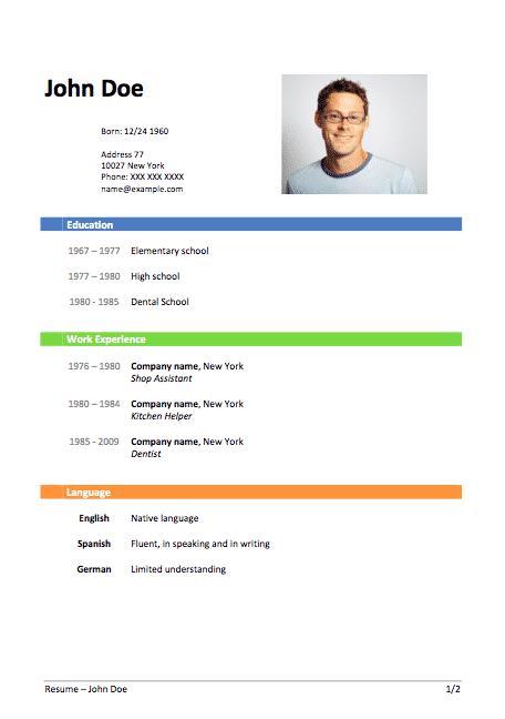 كيفية عمل ال Cv باللغة الانجليزية Awesomecvworldblog Cv Template Word Work Experience Company Names