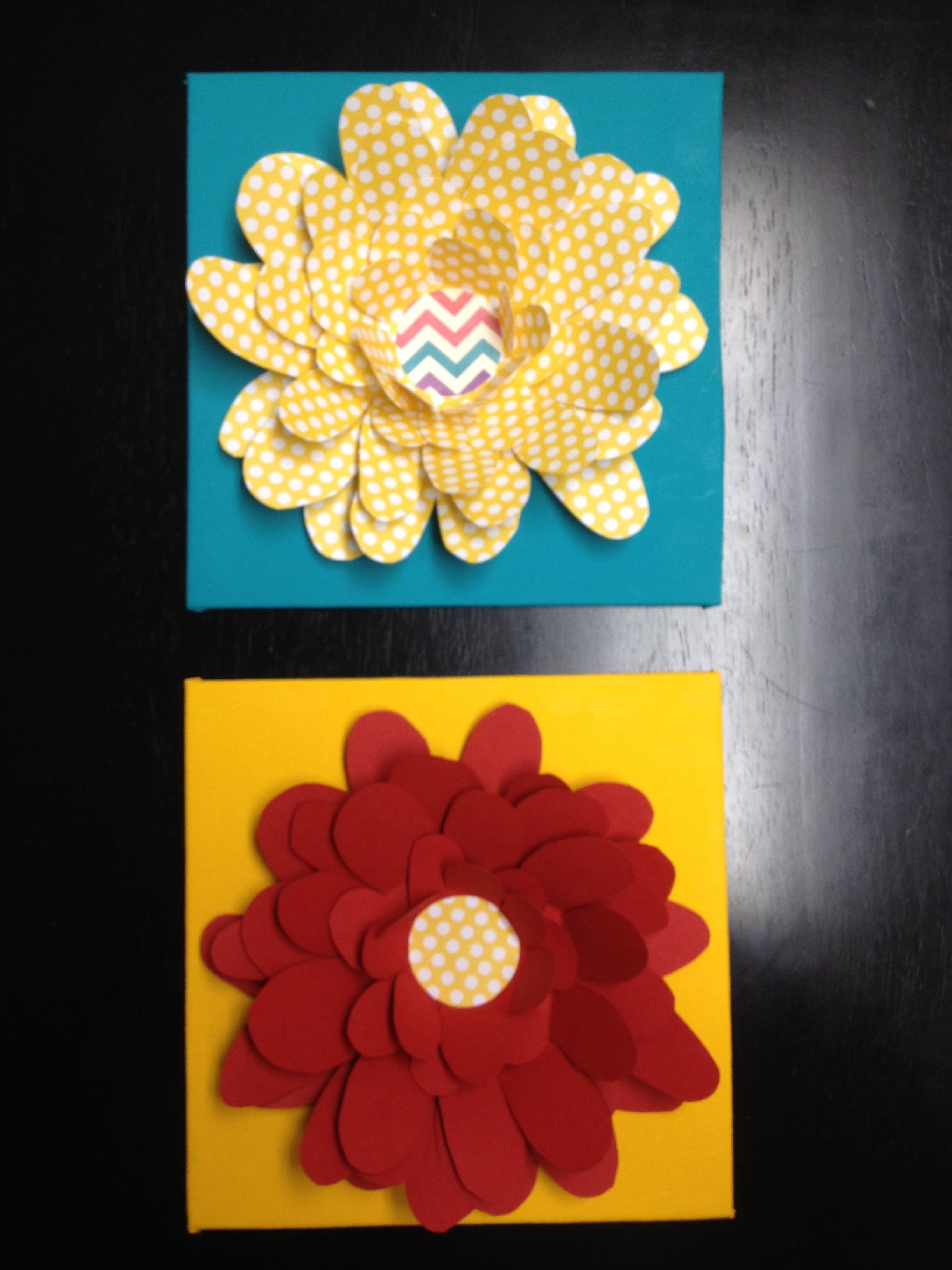 Wall Flowers! Scrapbook paper flowers for nursery. :)) No Cricut ...
