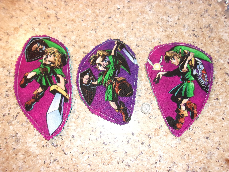 Legend of Zelda Link Magnet Set of 3 Fridge Decor, Gift for Gamer, Geek, Him, Boyfriend, Boy, Man Cave decor, Teenager, Stocking Stuffer