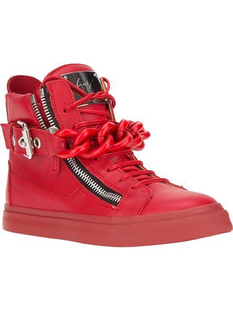 e882a2de3 Women s Designer Shoes on Sale – Markdown Luxury Footwear. Giuseppe Zanotti  Design Chain Detail Hi-top Sneakers - Biondini Paris - Farfetch.com