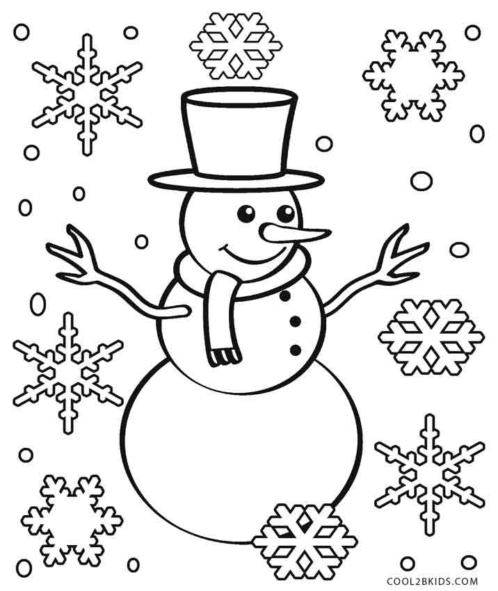 Snowflake Coloring Pages Snowman Coloring Pages Christmas Tree