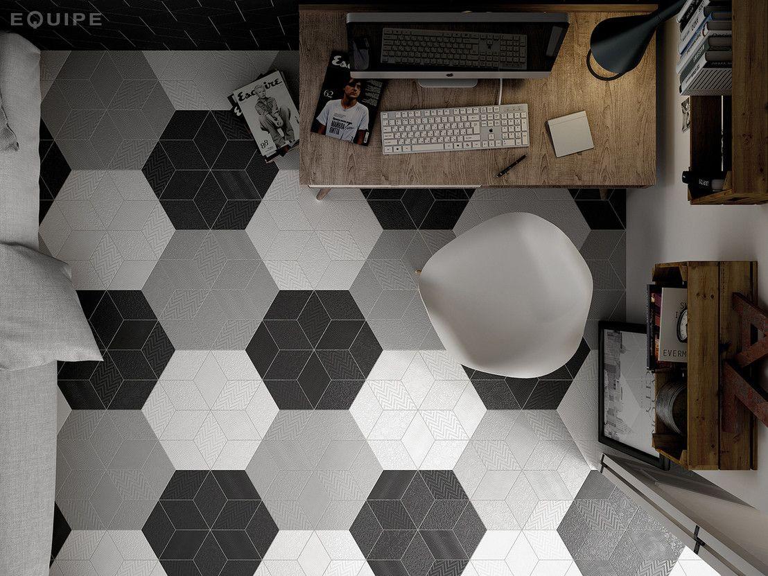 """reinventing the wheel with fun geometric sabor...""""Equipe de Ceramicas"""" ceramic tiles in all shapes & sizes. nc #design #interiors #floors"""