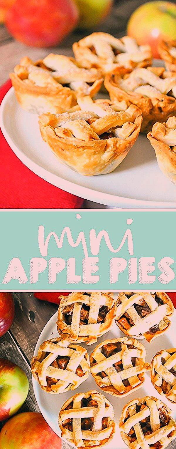 Mini apple pies are ideal for your holiday parties! Bake these individual apples pies in a muff