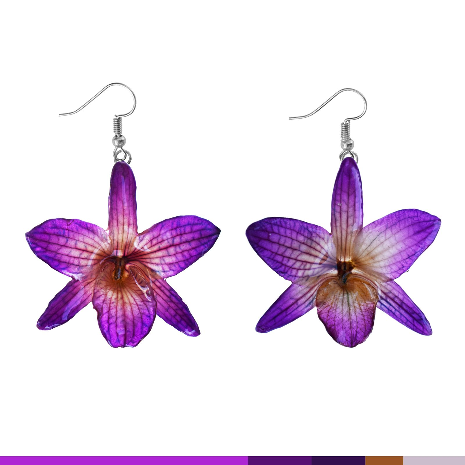 purple original products more earrings jewelry and drop la rea image beaded flower