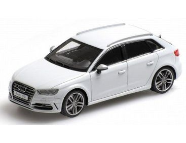 The Minichamps 1 43 Audi S3 Sportback 2013 In White Is A Superbly