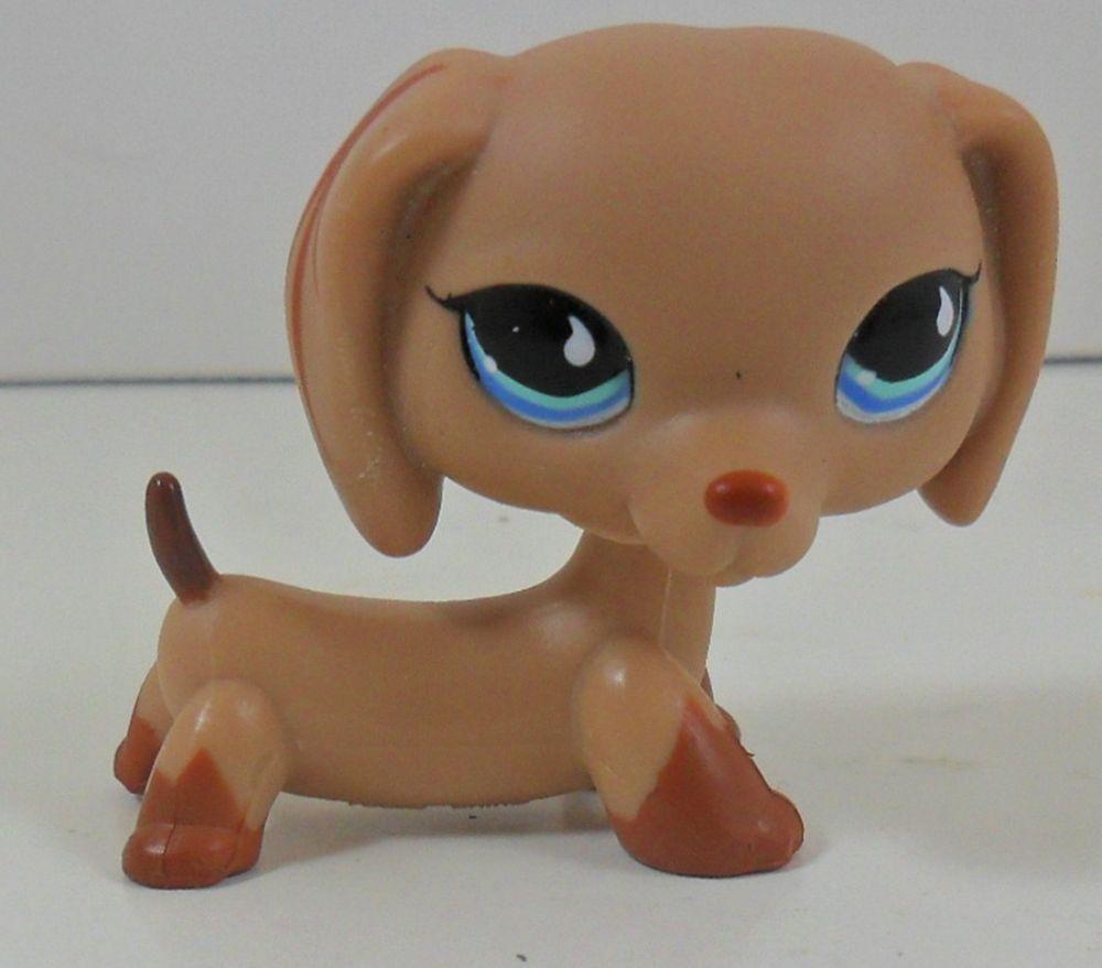 Hasbro #518 LPS Littlest Pet Shop Puppy Dog Dachshund Tan Teardrop Rare Gift Toy