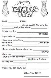image about Father's Day Fill in the Blank Printable named Pin upon fathers working day reward