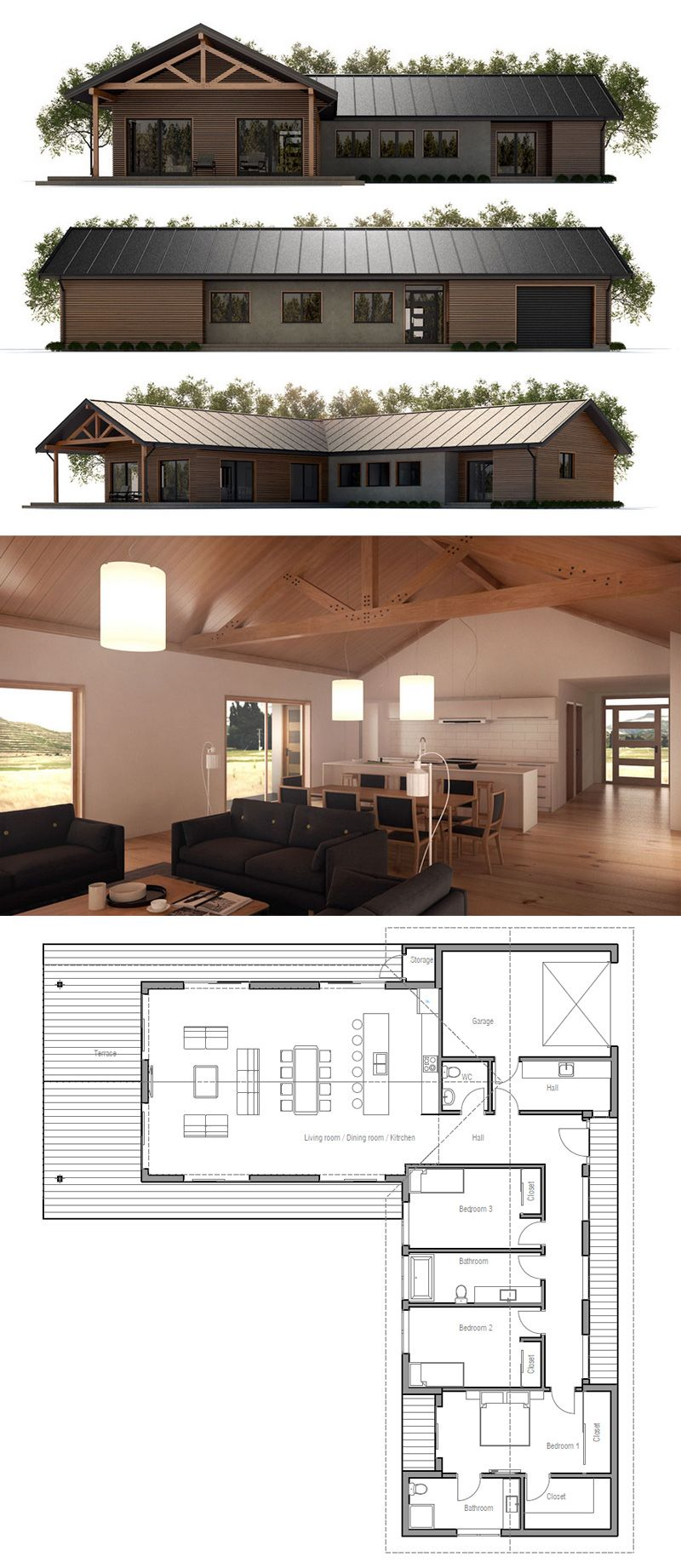 Pleasing Contemporary Style House Plan 3 Beds 2 5 Baths 2180 Sq Ft Plan Largest Home Design Picture Inspirations Pitcheantrous