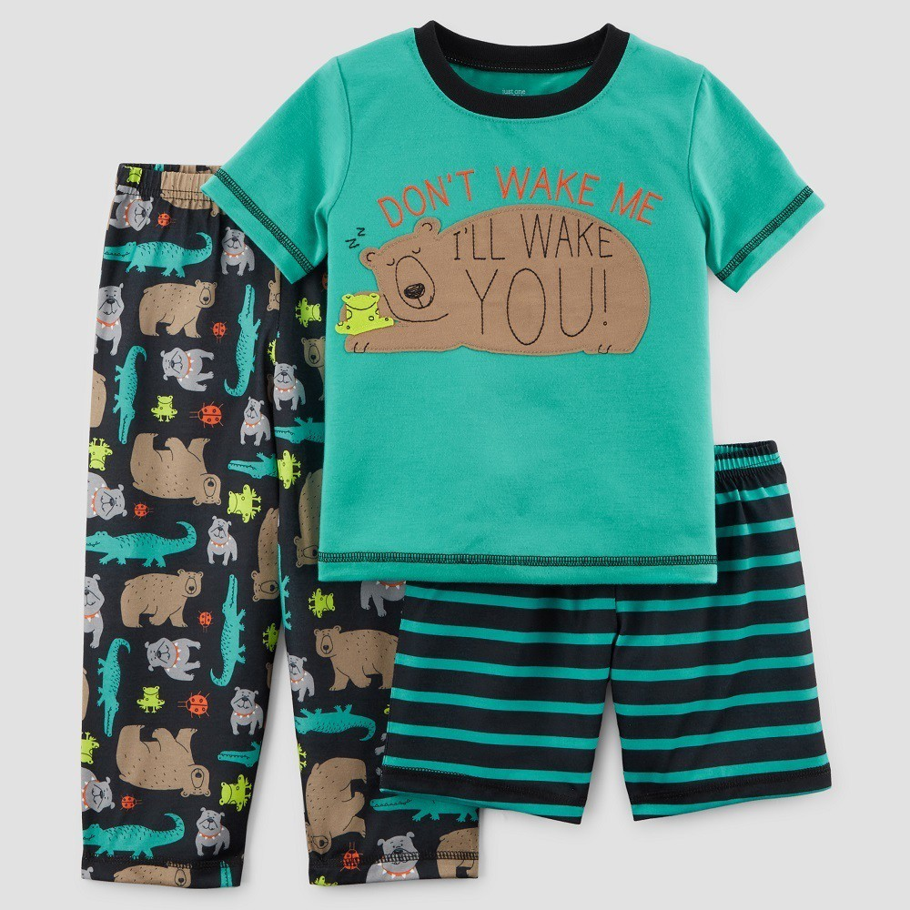 aa18b17a2 Baby Boys  3pc Bear Pajama Set - Just One You Made by Carter s Teal ...