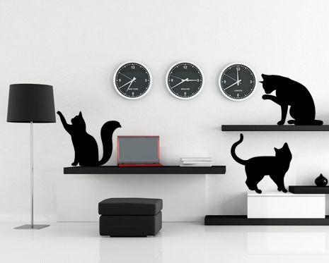 Carta da parati facile da staccare e incollare. Adesivi Murali Cats Silhouette Adesivi Murali Adesivi Murale