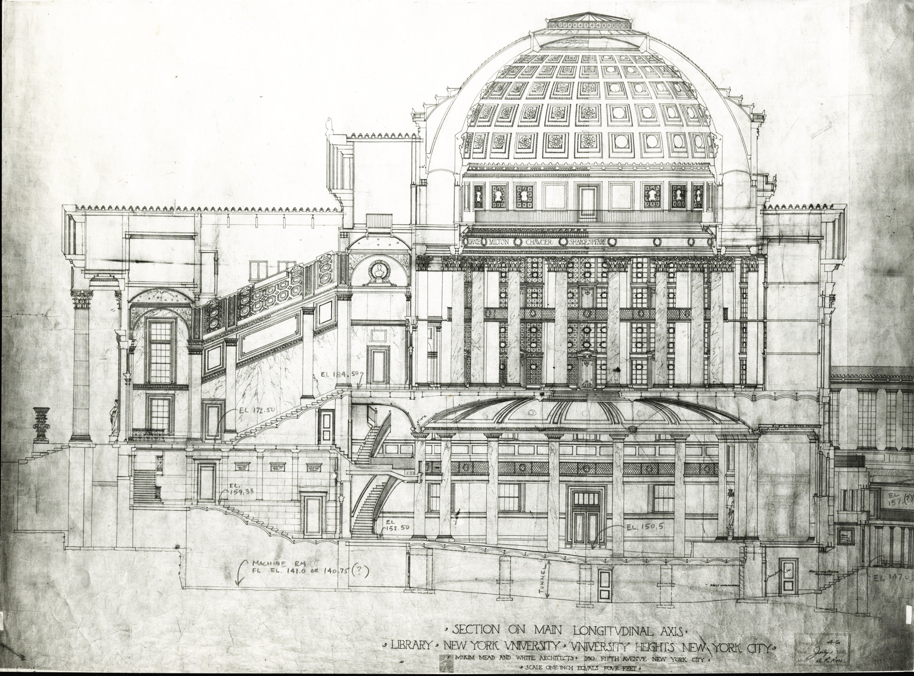 Sketch of the Gould Library from McKim