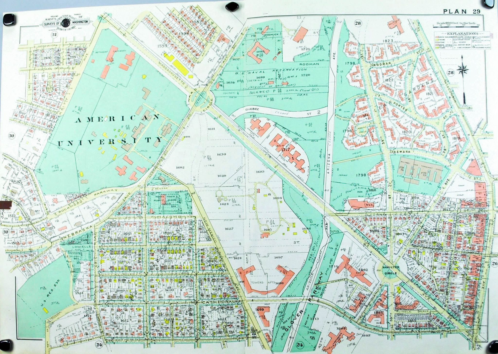 1960 Washington DC Plan 29 City maps and Products