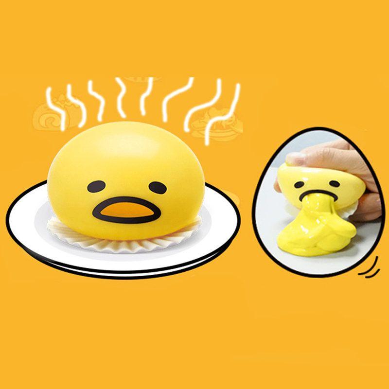 Mordazas y Bromas Prácticas Juguetes difíciles de Reciclar Vómitos Yema de Huevo Regalo de Liberar El Estrés Diversión Juguetes Creativos Para Los Amigos