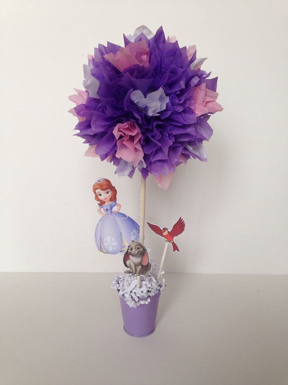 Sofia the first birthday party decoration, Sofia the first centerpieces by  AlishaKayDesigns - Sofia The First Birthday Party Decoration, Sofia The First