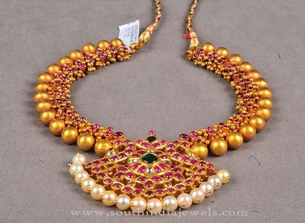 latest gold model collections designs stone pin necklace