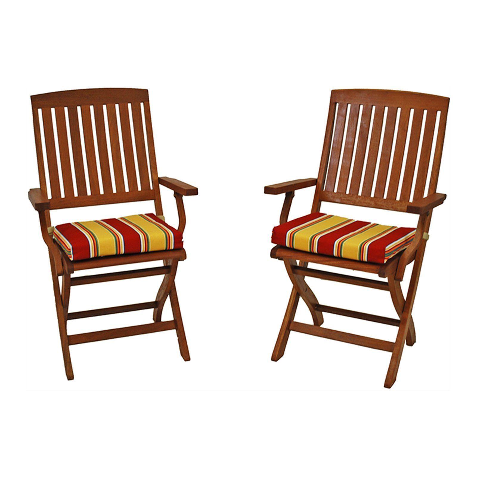 blazing needles outdoor 17 5 x 15 in folding chair cushion set of rh pinterest com