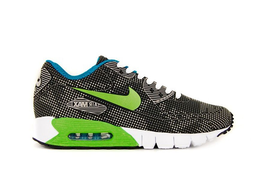 Nike air max 90 current moire black electric green blue