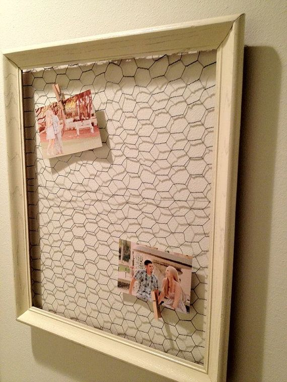 shabby chic antique white memo board and jewelry holder large 16 x rh pinterest com