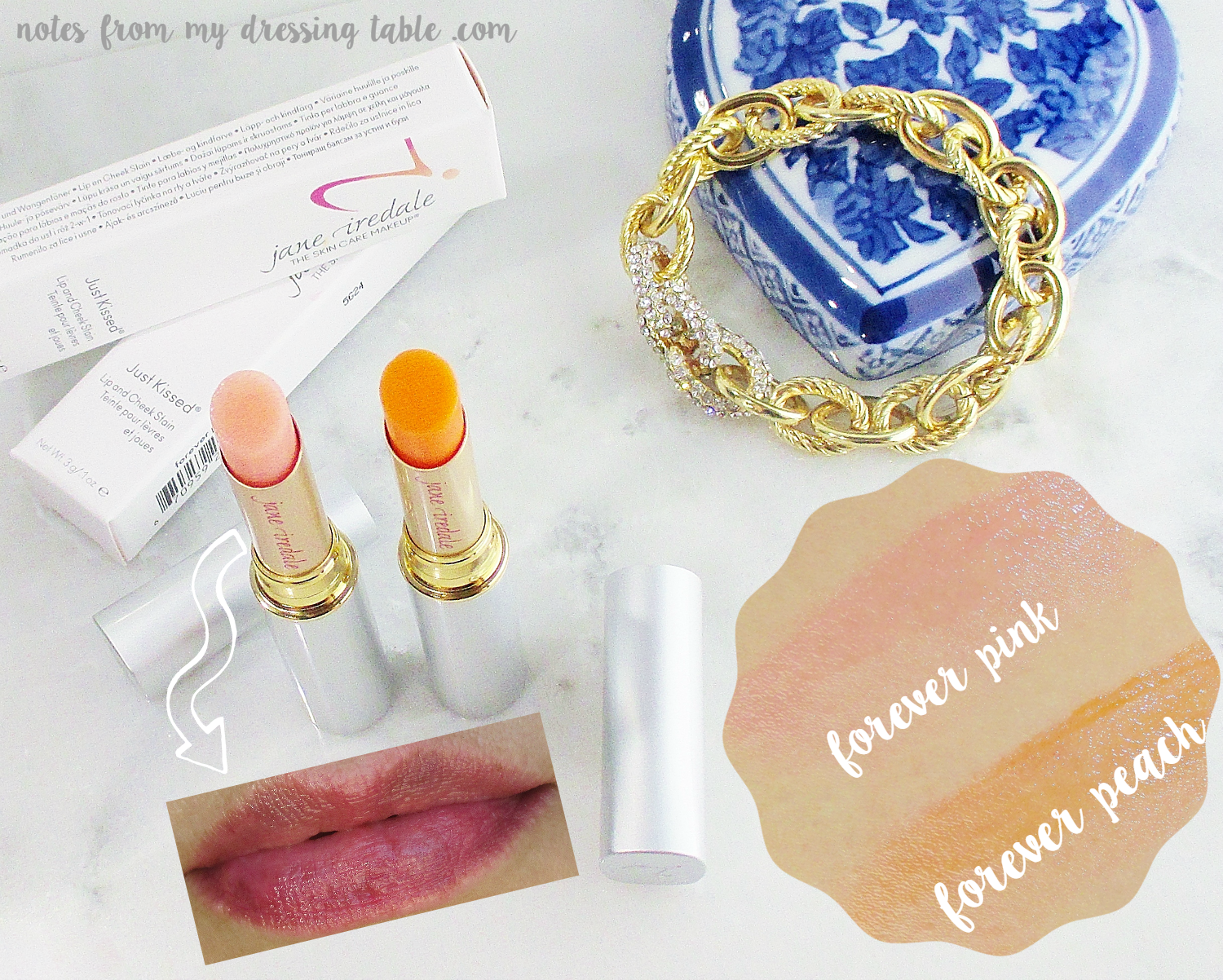 Jane Iredale Just Kissed Lip and Cheek Stains Neutral