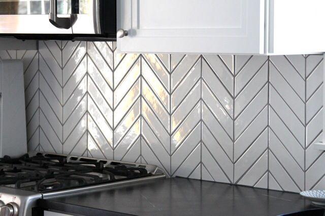 Kiln Chevron Silver Fox Gray Ceramic Tile Chevron Tile Chevron Tile Kitchen Colors Kitchen Tiles Backsplash
