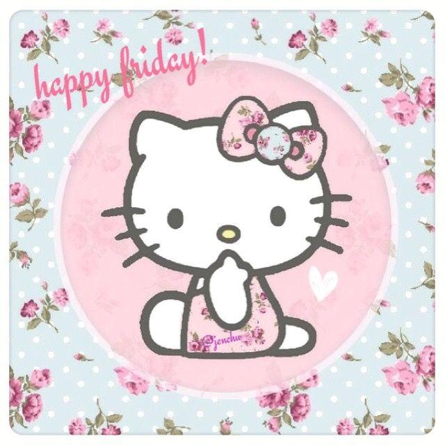 21f9b6c46 happy friday :) Hello Kitty Iphone Wallpaper, Sanrio Wallpaper, Kawaii  Wallpaper, Hello