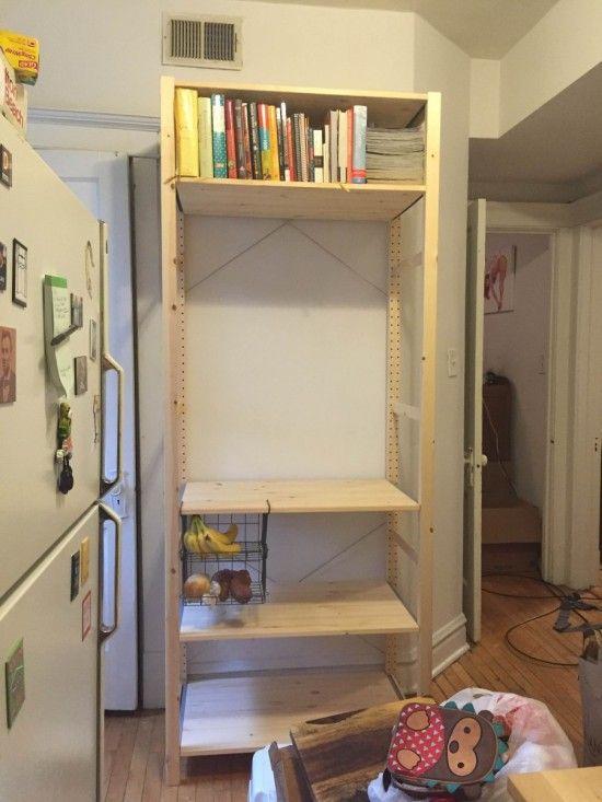 making my kitchen pop with a pegboard ivar unit ikea ideas rh pinterest com au
