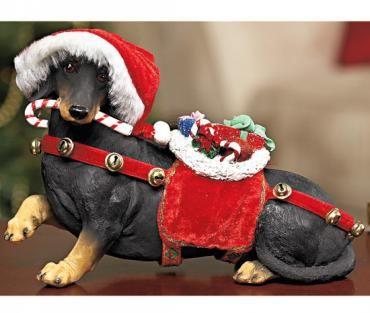 Holiday Dachshund Figurine Dachshund Rescue Of North America