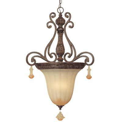 Classic Lighting Riviera 3 Light Inverted Pendant